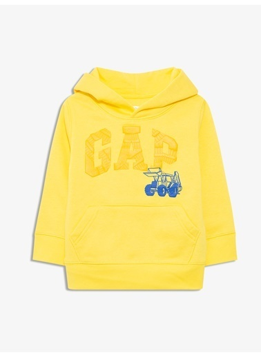 Gap Gap Logo Kapüşonlu Sweatshirt Sarı
